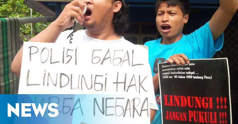 Bubarkan Acara Wartawan, AJI: Polisi Seharusnya Beri Rasa Aman