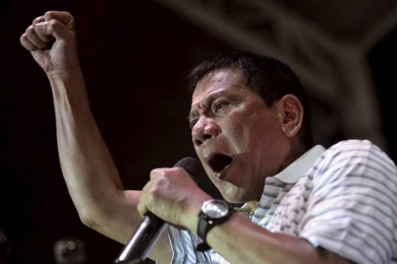 Wali kota Dacao City sekaligus kandidat presiden Filipina Rodrigo Duterte. (Foto: Reuters)