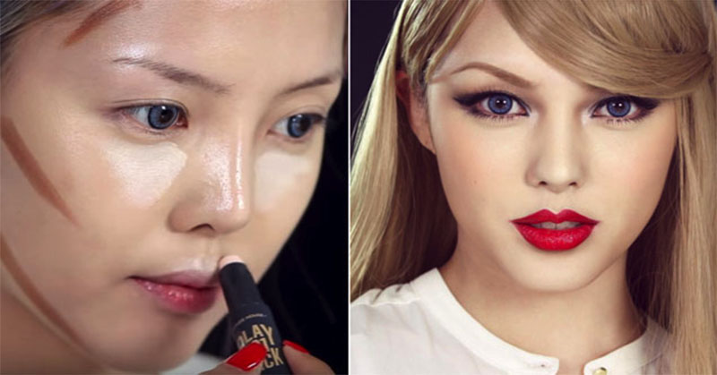 https: img.okezone.com content 2016 05 13 194 1387260 transformasi-make-up-mirip-taylor-swift-ini-menjadi-viral-5XapZ7ILYx.jpg