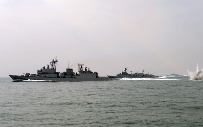 Kapal perang Angkatan Laut Korea Selatan (Foto: Reuters)