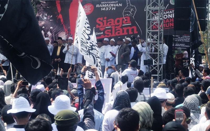 Demo tolak PKI di Solo, Jawa Tengah (Bramantyo/Okezone)