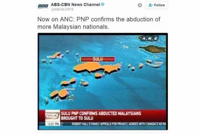 Screenshot pemberitaan diculiknya warga Malaysia (Foto: ABS-CBN)