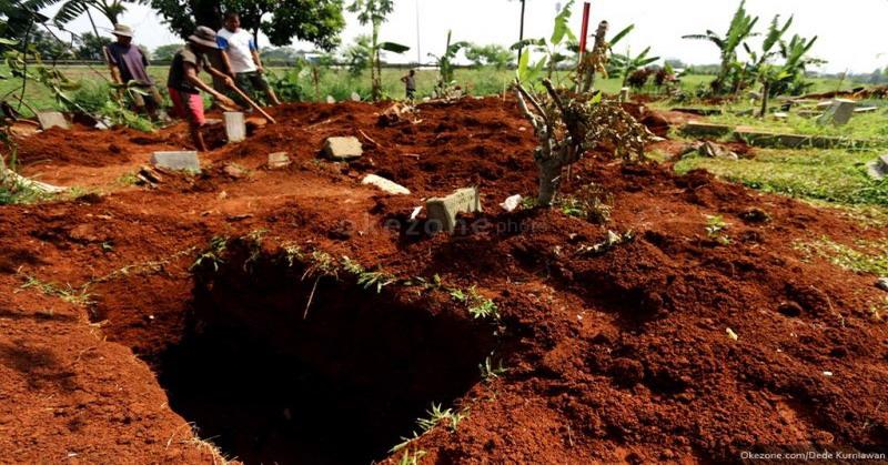 Ilustrasi liang kuburan (Dede/Okezone)