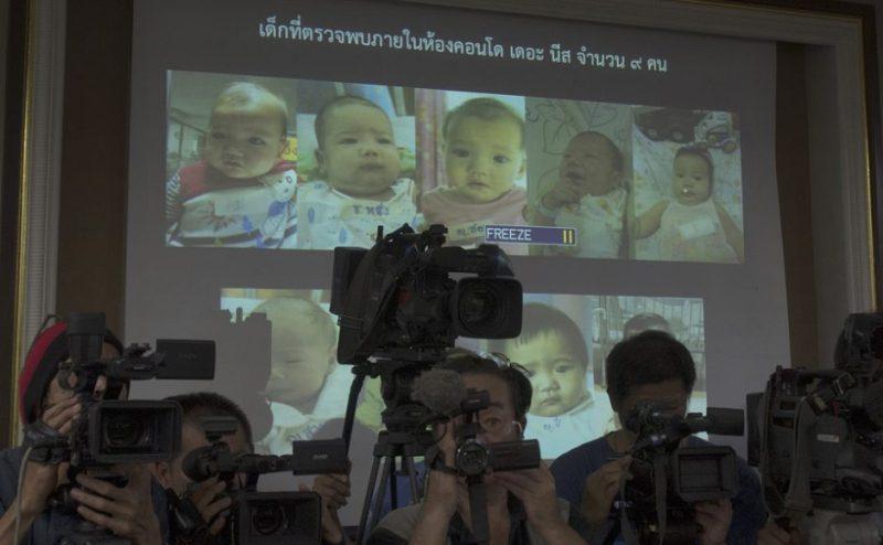 Bayi-bayi dari putra miliuner Jepang yang sudah ditemukan Interpol Thailand. (Foto: AP)