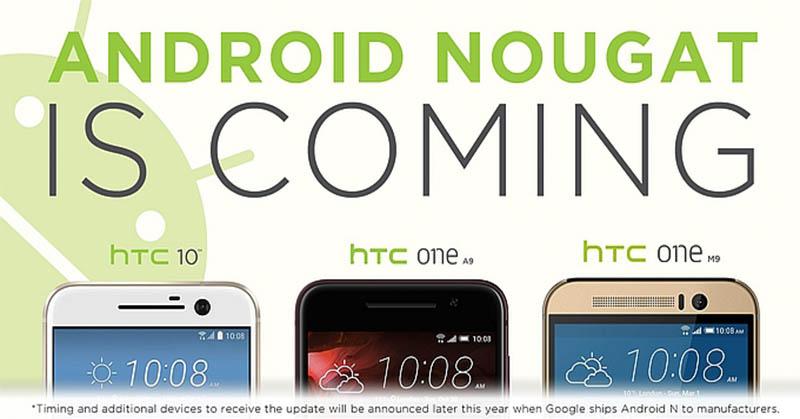 Update OS Android Nougat Sambangi Tiga Ponsel Anyar HTC
