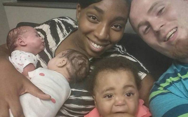 Danesha dan Jeffrey beserta anak-anak kembarnya. (Foto: Telegraph)