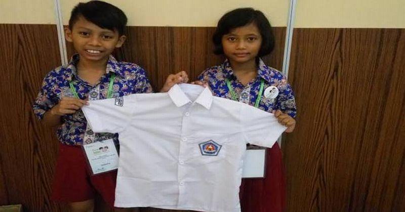 Siswa SD Buat Baju Khusus Penyandang Difabel