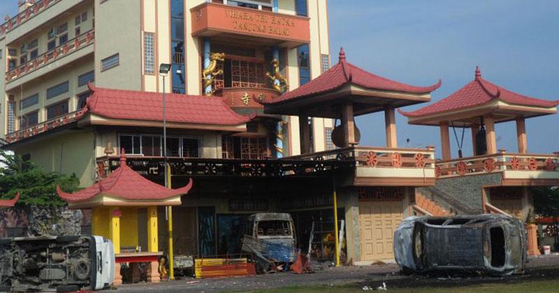 Kerusuhan di Tanjung Balai. (Foto: Okezone)