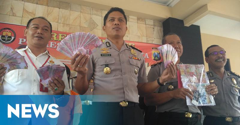 Terungkap, Praktik Penggandaan Gunakan Uang Palsu di Mojokerto