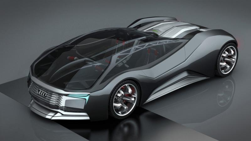 Audi F-Tron mobil bertenaga nuklir (foto: Inautonews)