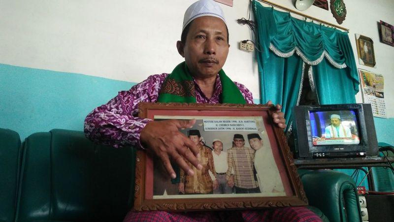 Choirun Nasichin (52) dijuluki haji nunut asal Jombang (Zen Arivin/Okezone)