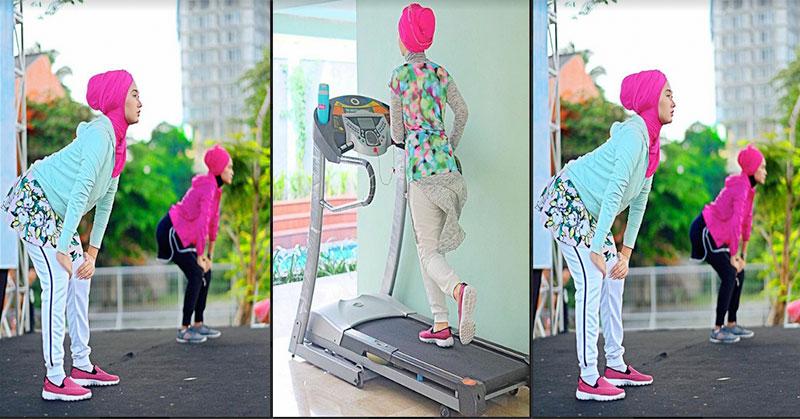 Trik Padu Padan Hijab Untuk Olahraga Ala Dian Pelangi Okezone