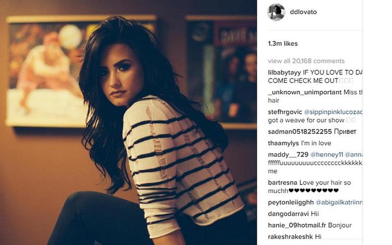 Pasang Hair Extention Demi Lovato Butuh Jam Okezone Lifestyle - Gaya rambut pendek demi lovato