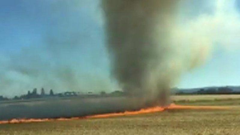 Tornado api muncul di Amerika (Foto: BBC)