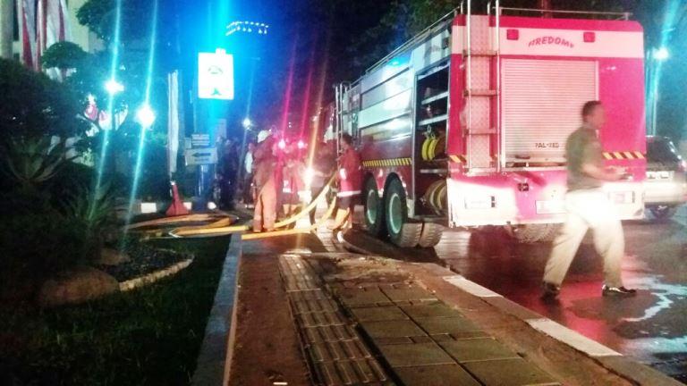 Foto-Foto Kebakaran di Polres Metro Jakarta Barat