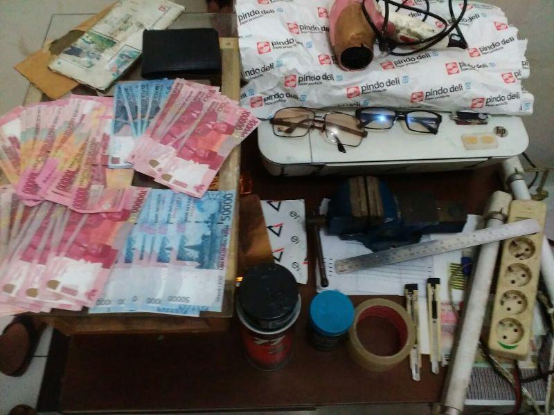 Tangkap Pengedar, Jutaan Rupiah Uang Palsu Diamankan