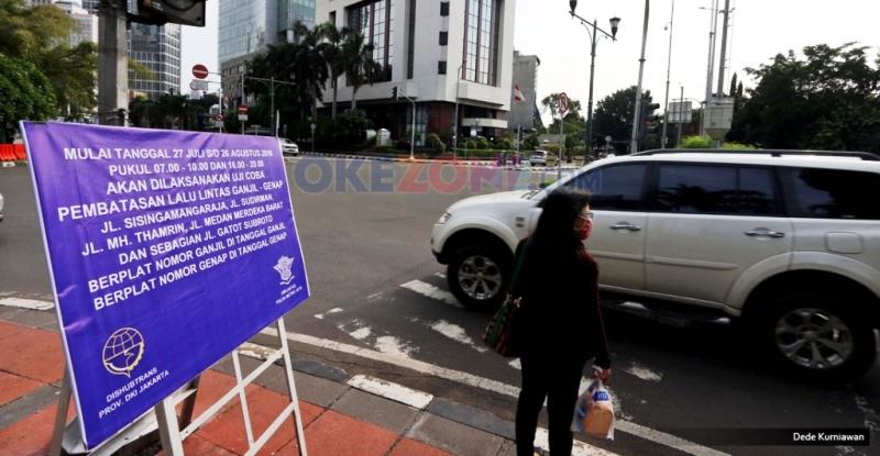 Dua Hari Terapkan Ganjil Genap, 802 Kendaraan Ditilang