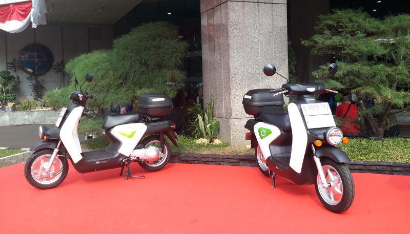 Honda EV Neo yang dipakai dalam uji coba perilaku berkendara dengan sepeda motor listrik oleh Kemenhub (Mali/Okezone)