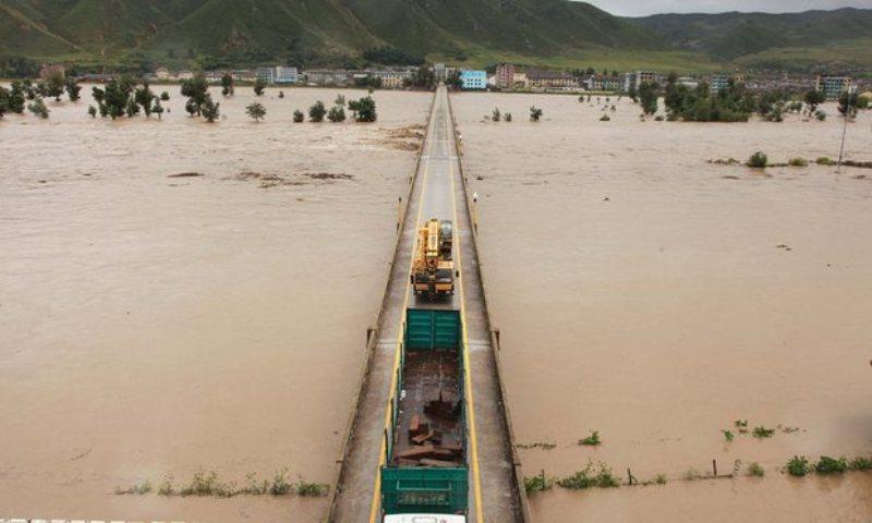 Banjir serang Korut, puluhan ribu rumah hancur (Foto: Xinhua)