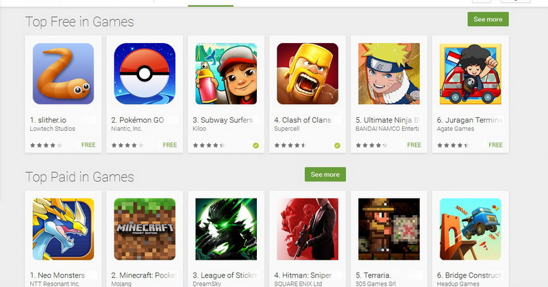 Game Slither.io Kalahkan Clash of Clans di Play Store