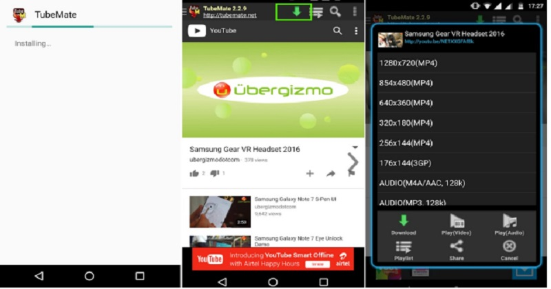 cara download youtube mp4 android