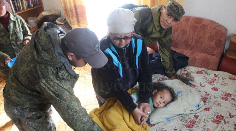 Foto Tserin Dopchut setelah berhasil diselamatkan (Foto: Departemen Dalam Negeri Republik Tuva)