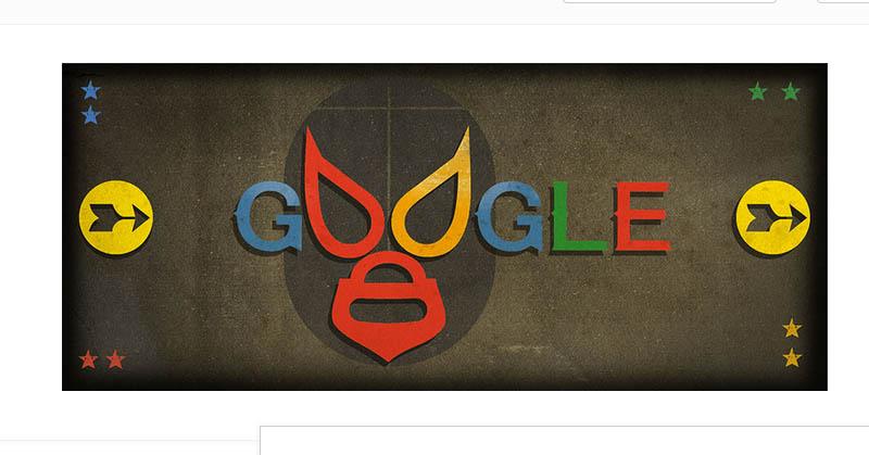 Google Doodle Hari Ini Pakai Topeng Pegulat