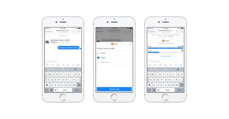 Facebook Messenger Tambah Fitur Voting