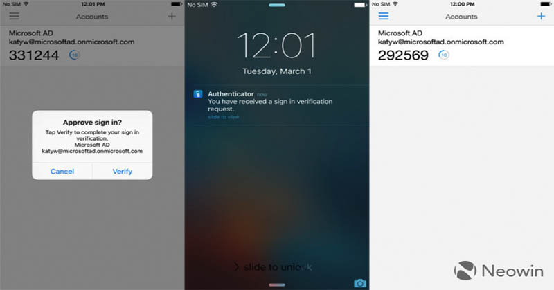 Microsoft Authenticator 4.1 untuk iOS Rambah Push Notifications