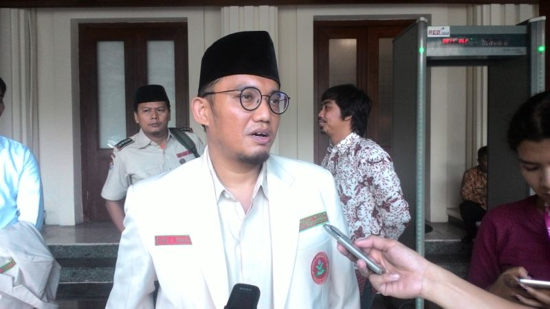 Ketua PP Pemuda Muhammadiyah Dahnil Anzar Simanjuntak (Foto: Reni/Okezone)