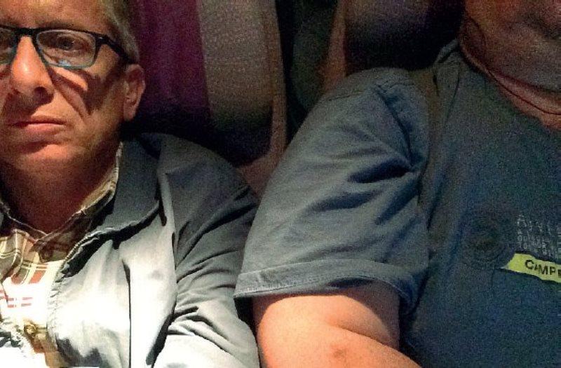 Giorgio Destro merasa tidak nyaman duduk di sebelah pria obesitas selama sembilan jam (Foto: Corriere del Veneto)