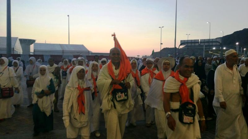 Jamaah haji asal Indonesia saat di Mina, Arab Saudi (M Saifulloh/Okezone)