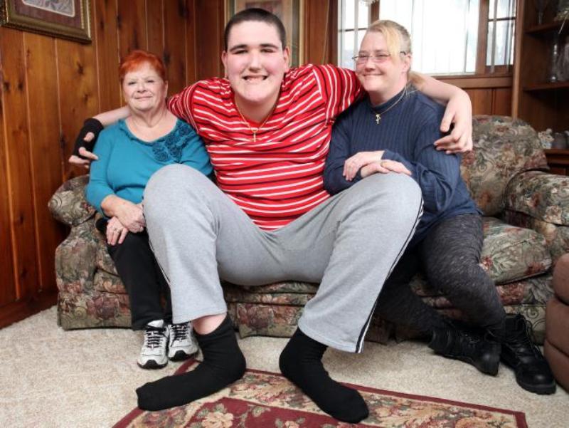 Broc Brown (17), tinggi badan 233 sentimeter. (Foto: Getty Images)
