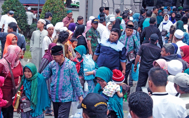 Jamaah Haji Kloter 23 Tiba di Bogor (Foto: Putra Ramadhani)