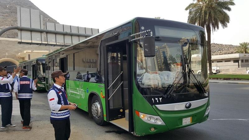 Bus Salawat mulai ditarik secara bertahap (Foto: M Saifulloh/Okezone)