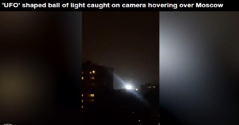 Benda Diduga UFO Terekam Melayang di Langit Moskow