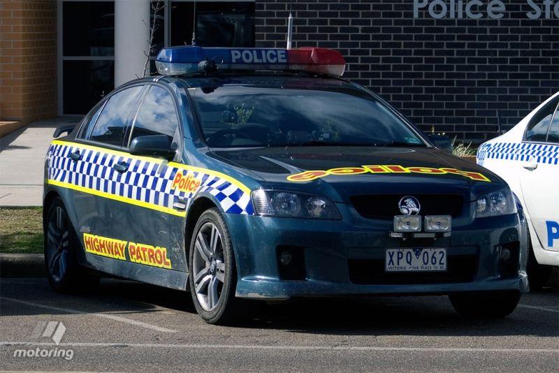 Ilustrasi mobil polisi Australia (foto: Motoring)