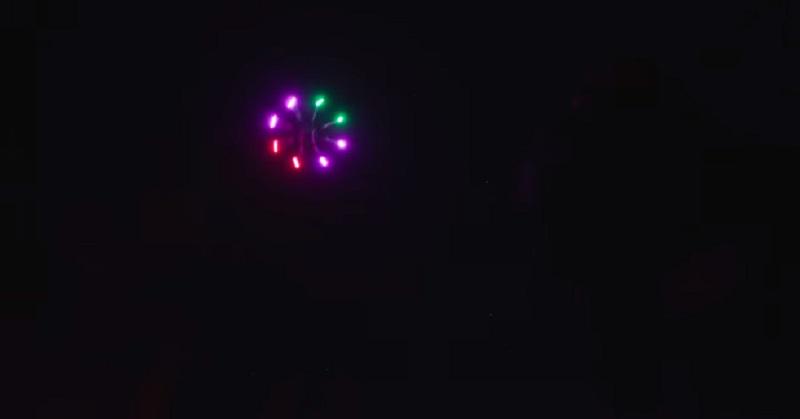 Ketika Drone Dipasang LED 1.000 Watt