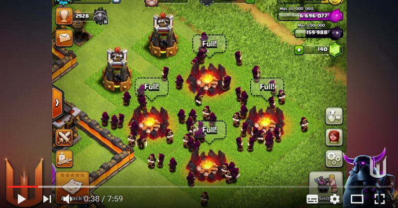 Serbuan 60 Wizard Level 7 Clash of Clans