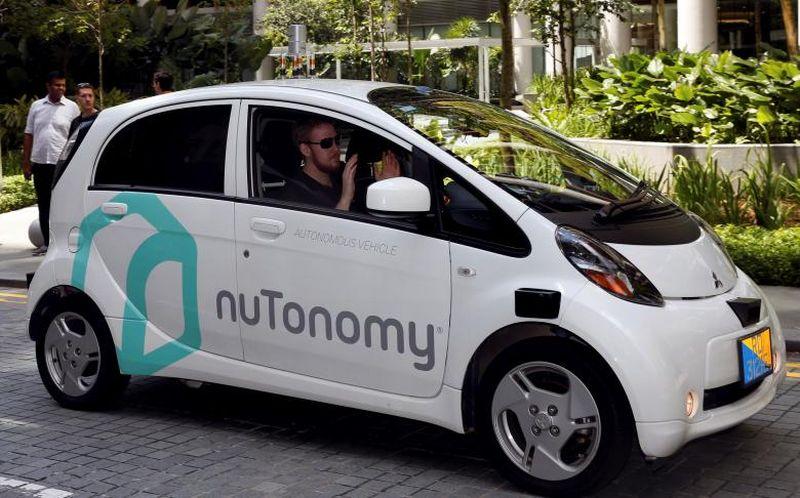 Taksi otonom nuTonomy di Singapura (Foto: Reuters)