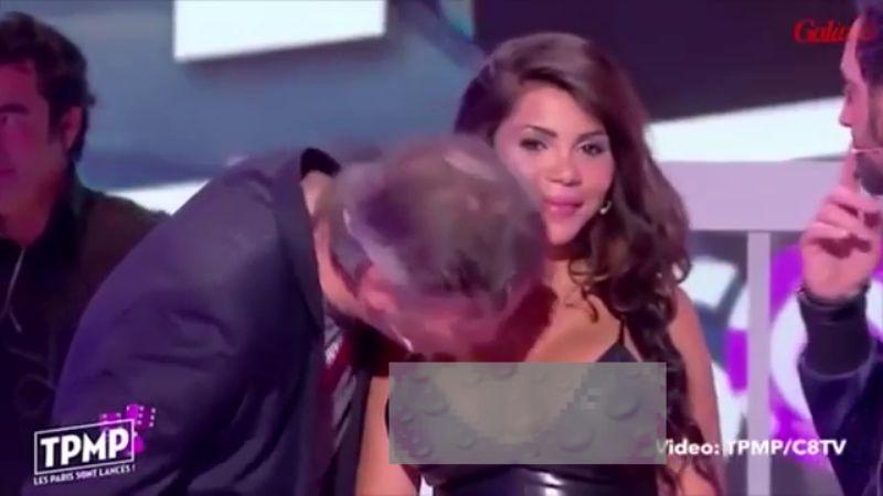 Maire mencium dada teman mainnya tanpa izin. (Foto: dok. TPMP)