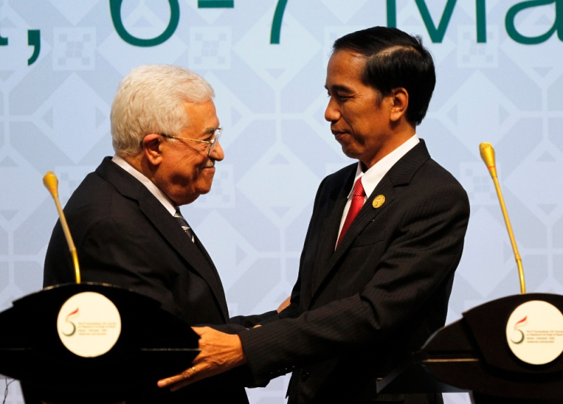Presiden Jokowi tuai pujian atas inisiatifnya damaikan konflik Palestina. (Foto: dok. OIC-ES 2016)