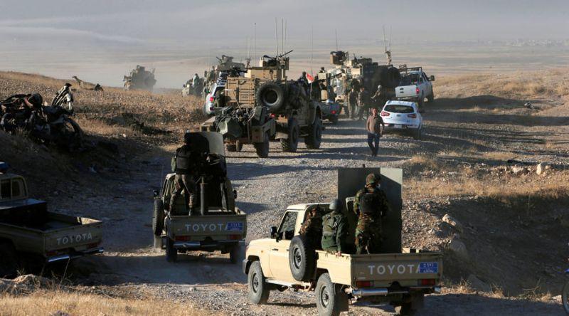 Foto pasukan Peshmerga bergerak menuju Mosul (Foto: Reuters)