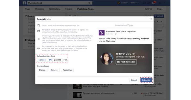 Unggah di Facebook Live Kini Bisa Dijadwal