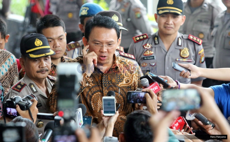 Gubernur DKI Basuki Tjahaja Purnama (Ahok) (Foto: Okezone)