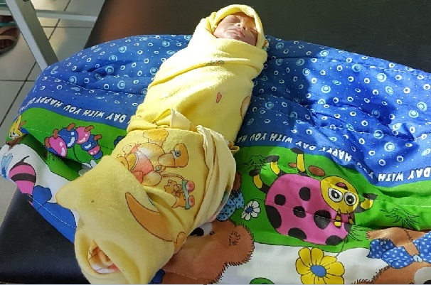 sesosok bayi diduga dibuang (Foto: KRjogja)