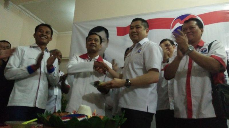Ketua Umum Partai Perindo Hary Tanoesoedibjo saat meresmikan kantor DPD Mojokerto (Foto: Zen/Okezone)