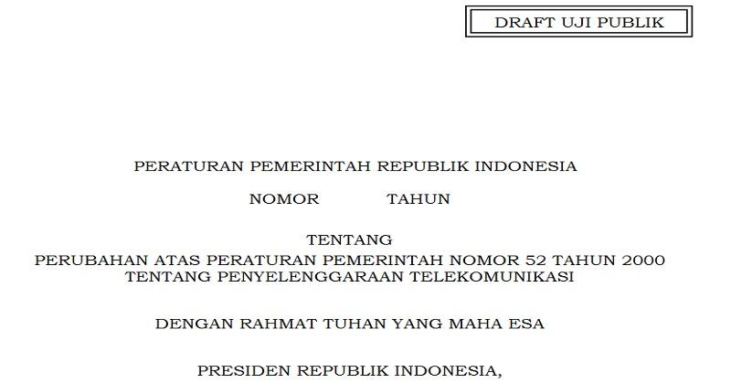 Kominfo Konsultasi Publik RPP UU Mengenai Penyelenggaraan Telekomunikasi