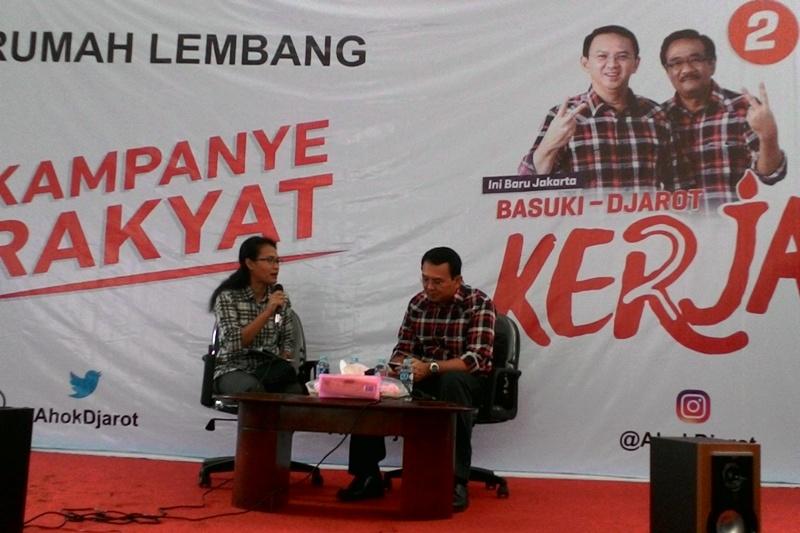 Ahok saat Kampanye di Rumah Lembang (Foto: Reni/Okezone)