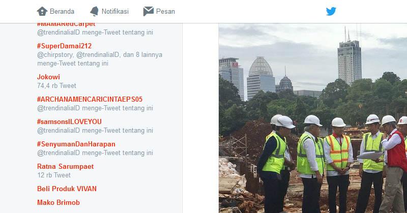 Giliran Jokowi Hadir di Trending Topic Twitter